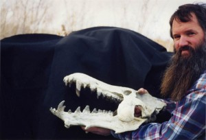 Dr. Sundell with the best Archaeotherium